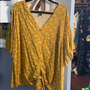 ASOS yellow blouse
